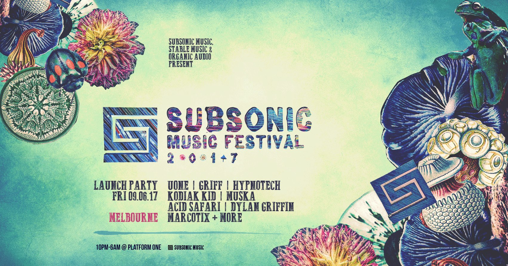 Subsonic Music Festival Launch Party: Fri: 9th June @PlatformOne